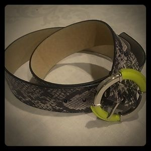 Jessica Simpson faux snakeskin leather belt L